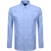 Fred Perry Long Sleeved Classic Oxford Shirt Blue